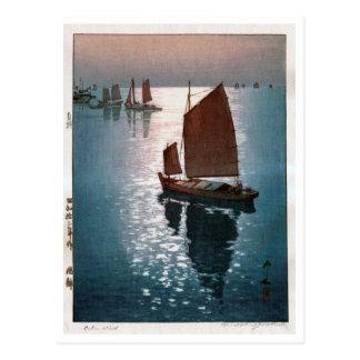 凪静, 吉田博 Calm Wind, Hiroshi Yoshida, Woodcut Postcard