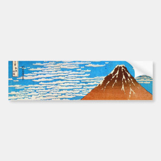 凱風快晴(赤富士), 北斎 Red Mount Fuji, Hokusai, Ukiyo-e Bumper Sticker
