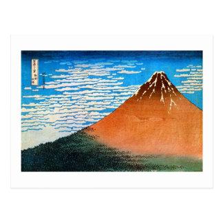 凱風快晴(赤富士), 北斎 Red Mount Fuji, Hokusai, Ukiyo-e Postcard