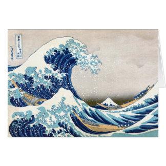 北斎 Great Wave Off Kanagawa Hokusai Fine Art Card