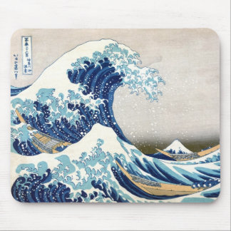 北斎 Great Wave Off Kanagawa Hokusai Fine Art Mouse Mat