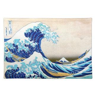 北斎 Great Wave Off Kanagawa Hokusai Fine Art Placemat