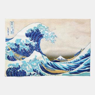北斎 Great Wave Off Kanagawa Hokusai Fine Art Tea Towel