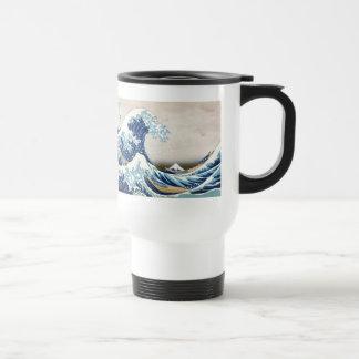 北斎 Great Wave Off Kanagawa Hokusai Fine Art Travel Mug