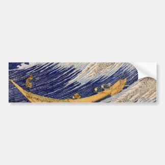 千絵の海・総州銚子, 北斎 Ocean Waves, Hokusai Bumper Sticker