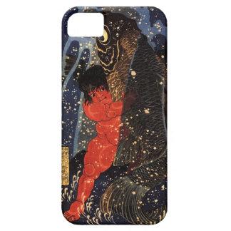 坂田金時と巨鯉, 国芳, Sakata Kintoki & Huge Carp, Kuniyoshi Barely There iPhone 5 Case