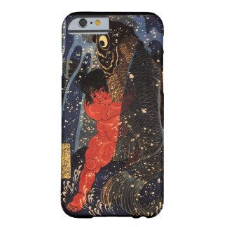 坂田金時と巨鯉, 国芳, Sakata Kintoki & Huge Carp, Kuniyoshi Barely There iPhone 6 Case