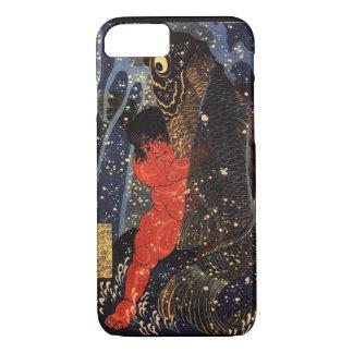 坂田金時と巨鯉, 国芳, Sakata Kintoki & Huge Carp, Kuniyoshi iPhone 7 Case