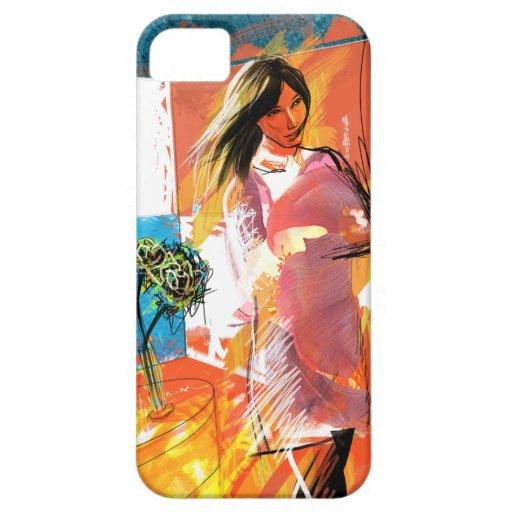 女の子(赤と) iPhone 5 CASE