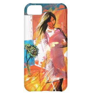 女の子(赤と) iPhone 5C CASE