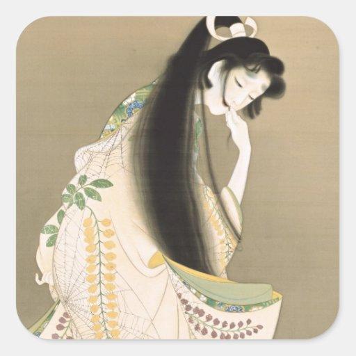 女の幽霊, 上村松園 Lady Ghost, Uemura Shōen, Japan Art Square Stickers
