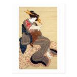 女, 国貞 Woman, Kunisada, Ukiyo-e Postcard