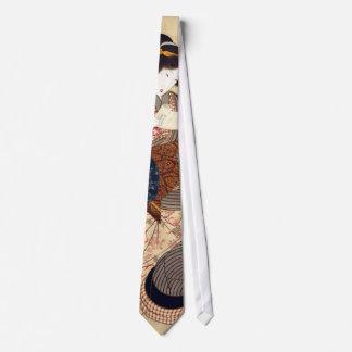 女, 国貞 Woman, Kunisada, Ukiyo-e Tie