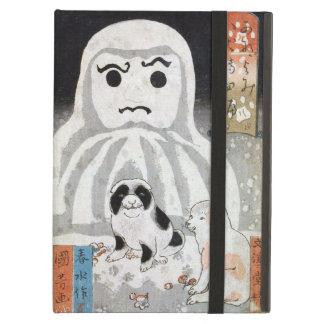 子犬と雪だるま, 国芳 Puppies & Snowman, Kuniyoshi, Ukiyo-e iPad Air Covers