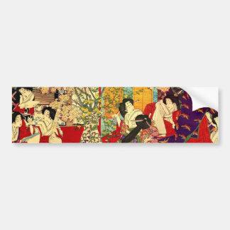 宦 woman cherry tree mat verse no figure bumper sticker