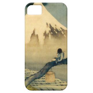 富士と少年, 北斎 Mount Fuji and Boy, Hokusai, Ukiyo-e Barely There iPhone 5 Case