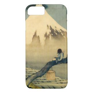 富士と少年, 北斎 Mount Fuji and Boy, Hokusai, Ukiyo-e iPhone 7 Case
