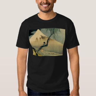 富士と少年, 北斎 Mount Fuji and Boy, Hokusai, Ukiyo-e Shirts