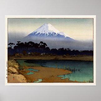 富士十景 朝日, Ten views of Fuji, Sunrise, Yoshida Poster