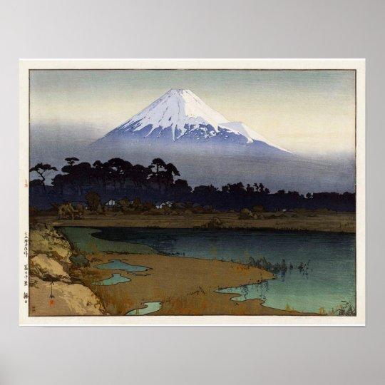 富士十景 朝日, Ten views of Fuji, Sunrise, Yoshida