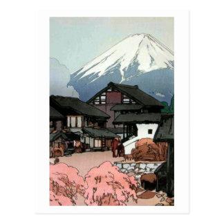 富士十景 船津, Ten views of Fuji, Funatsu, Yoshida Postcard