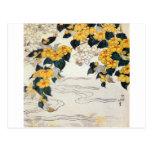 山吹, 北斎 Yellow Flower, Hokusai, Ukiyo-e