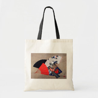 扇子, 北斎 Five Fans, Hokusai, Ukiyoe Tote Bag