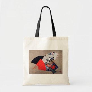 扇子, 北斎 Five Fans, Hokusai, Ukiyoe Budget Tote Bag