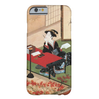 手紙を書く女, 春章 Woman Writing a Letter, Shunsho Barely There iPhone 6 Case