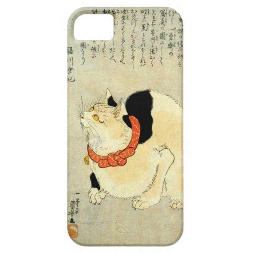 日本猫, 国芳 Japanese Cat, Kuniyoshi, Ukiyo-e iPhone 5 Cover