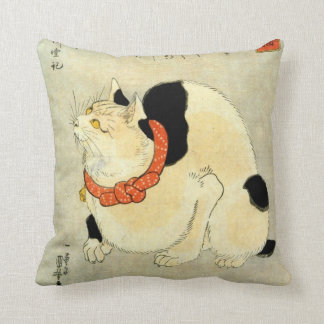 日本猫, 国芳 Japanese Cat, Kuniyoshi, Ukiyo-e Cushion