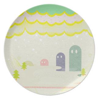 星の国の不思議な生物Delta01typeD かわいいお皿 Plate