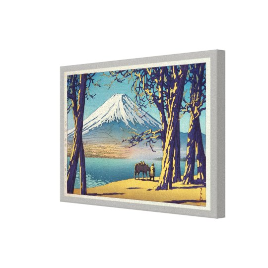 晩秋の富士山, Mt.Fuji in autumn, Hasui Kawase, Woodcut Canvas