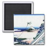 東都浅草本願寺, 北斎 View Mt.Fuji from Asakusa, Hokusai Refrigerator Magnets