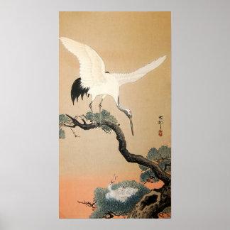 松に鶴, 古邨 Crane on Pine Tree, Koson, Ukiyo-e Poster