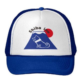 柴犬と富士山のイラストの帽子 shiba inu and Mt.Fuji a cap