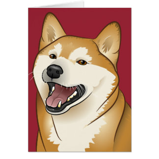 柴犬 Happy Birthday Shiba Inu Dog card
