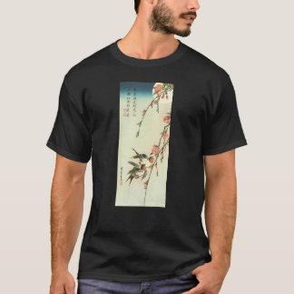 桃の花に燕, 広重 Peach Blossom and Swallow, Hiroshige T-Shirt