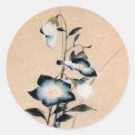 桔梗, 北斎 Chinese bellflower, Hokusai Ukiyo-e