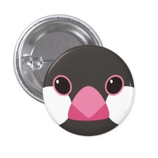 桜文鳥-Java sparrow black 缶バッジ