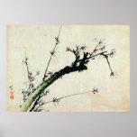 梅花, 北斎 Plum Blossoms, Hokusai, Ukiyo-e