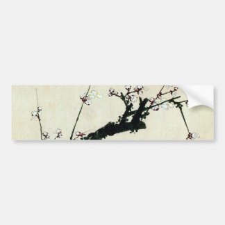 梅花, 北斎 Plum Blossoms, Hokusai, Ukiyo-e Bumper Sticker