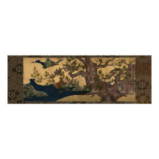 檜図 Cypress Tree Kano Eitoku Poster