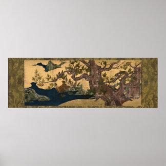 檜図 Cypress Tree Kano Eitoku Posters