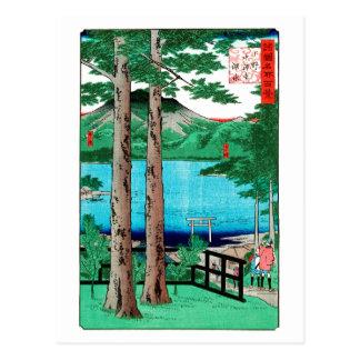歌川広重 Chuzenji Lake, Utagawa Hiroshige Postcard