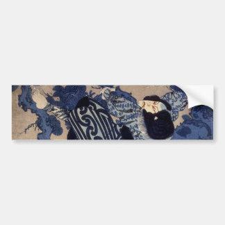 歌舞伎役者, 国芳 Kabuki Actor, Kuniyoshi, Ukiyo-e Bumper Sticker