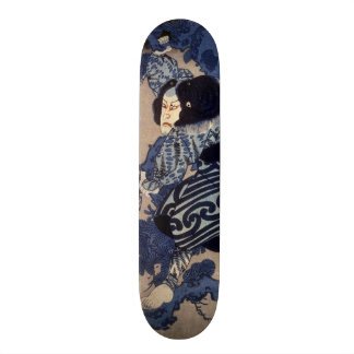 歌舞伎役者, 国芳 Kabuki Actor, Kuniyoshi, Ukiyo-e Skate Board Decks