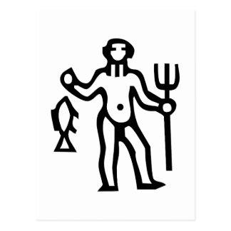 水瓶座, Aquarius, Constellation(Zodiac) Postcard