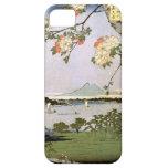 江戸の桜, 広重 Cherry Blossoms of Edo, Hiroshige, Ukiyoe iPhone 5 Cover