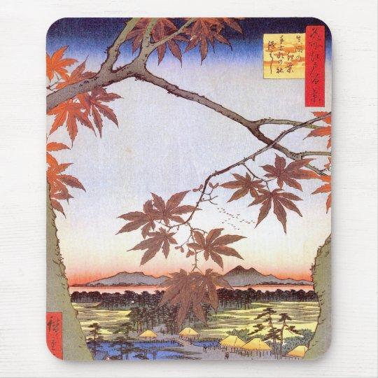 江戸の紅葉, 広重 Maple of Edo, Hiroshige, Ukiyo-e Mouse Pad